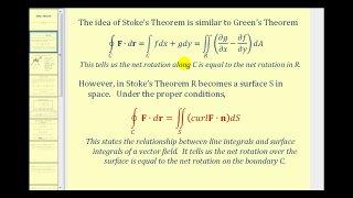 Stoke's Theorem - Part 1