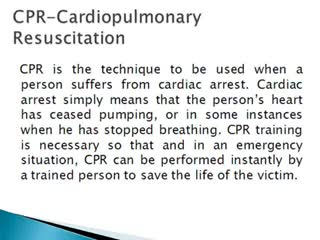 Important Facts and the Evolution of CPR Tech