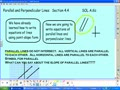 Lesson 4.4 Parallel and Perpendicular Lines