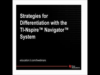 Strategies for Differentiation with the TI-Ns