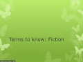 Flipped: Fiction Terms