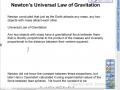 Newton's Universal Law of Gravitation Lesson