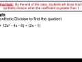 video 16a - synthetic division when coefficient is greater than 1