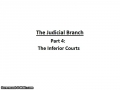 Judicial Branch (Part 3-Inferior Courts)