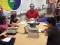Juan Pena teaching Reading during IWT in Mrs. Hill's class