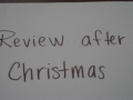 Review After Christmas