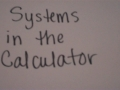 Systems In Calc 2
