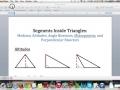 Types of Segments Inside Triangles (Part I): Altitudes, Perpendicular bisectors, etc.