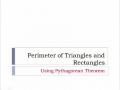 01-12 Chapter 5 - Lesson 6B - Perimeter of Triangles and Rectangles