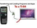 Transferring files onto the TI-84 Calculator