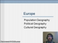 Cultural Geography of Europe