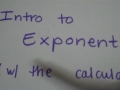 Intro To Exponents With Calculator