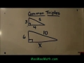 Common Triples/Pythagorean Triplets