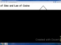 Law of Sine and Cosine