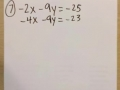 Solve Systems of Equations by Elimination: Part 1 (Homework #7)