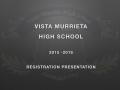 VMHS 2015-2016 Student Registration Instruction