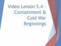WHII.5.4 - Containment
