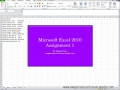 Excel Lesson 1 Tutorial