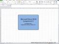 Excel Lesson 2 Tutorial