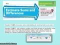Estimating Sums and Difference Decimals GATE