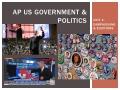 AP US Government:  Unit 4 Review