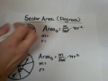 Finding the area of a sector