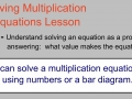 Solving Division Equations Lesson