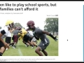 NewsELA - Children like to play school sports, but some families can't afford it