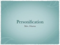 Personification Video