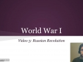 World War I Video 3: Russian Revolution