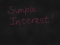 Simple Interest Video