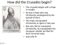 How did the Crusades begin?