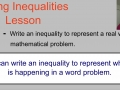 Writing Inequalities Lesson