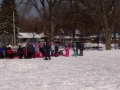 Sledding the Iditarod during PE class