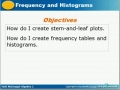 Frequency tables and Histogram1
