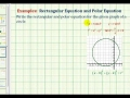 James Sousa: Find the Rectangular and Polar Equation of a Circle from a Graph
