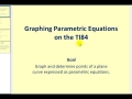 James Sousa: Graphing Parametric Equations in the TI84