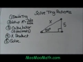 Using Trig Functions with a right triangle