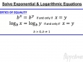 A2 9.6 Solve Exponential and Logarithmic Equations