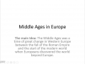 Middle Ages Notes-Video 1
