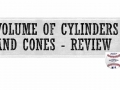 04-13 Volume of Cylinders and Cones - Review