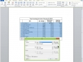 Tutorial Microsoft Word Tables 2