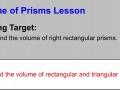 Volume of Prisms Lesson