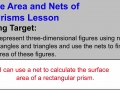 Surface Area and Nets of Prisms Lesson