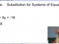 Substitution for Systems of equations