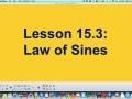 15.3 Law of Sines Part 1