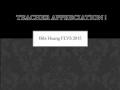 Teacher Appreciation 2015