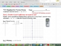 Graphing Parabolas - Standard to vertex form