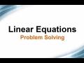 Linear Equations: Problem Solving