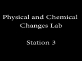 Physical and Chemical Changes Lab_Station 3